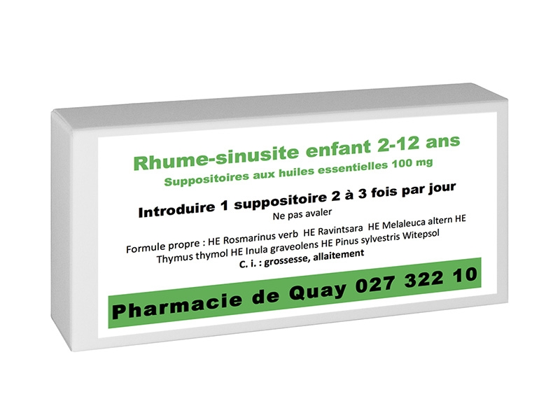 Huiles Essentielles Rhume 10 suppos enfant 2-12ans